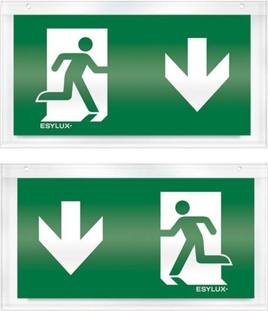 Pictogram for emergency luminaire Acrylic plate Exit EN10079085