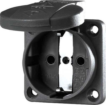 Equipment mounted socket outlet (SCHUKO) Plastic 11032
