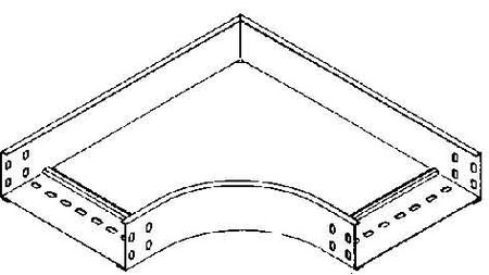 Bend for cable tray Horizontal 90? RES 60.100