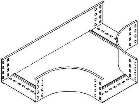 Tee for cable tray 110 mm 200 mm T-piece horizontal RTS 110.200