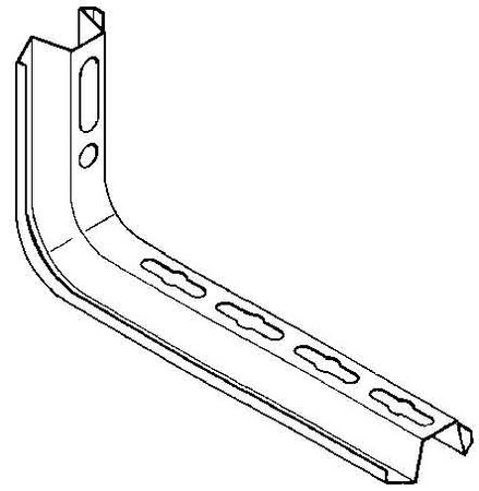 Ceiling profile for cable support system 463 mm 57 mm TKS 400 E3