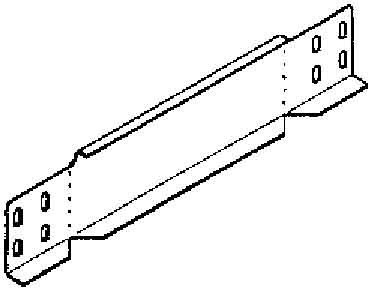 End piece for cable tray 60 mm 250 mm RA 60.250