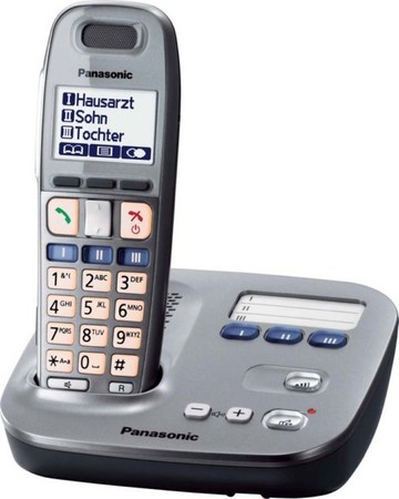 Cordless telephone Analogue DECT 170 h KX-TG6571GM