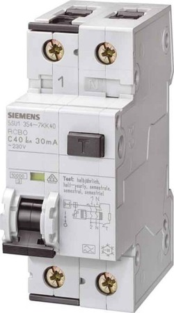 Earth leakage circuit breaker 2 1 230 V 5SU13543KK10