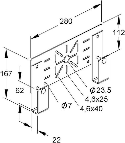 Niedax Mounting Plate For Cable Support System Krmpv280f Krmpv 280