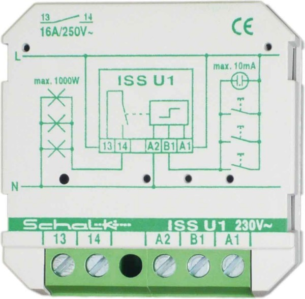 Latching relay Electronic switch Flush mounted (plaster) issu19