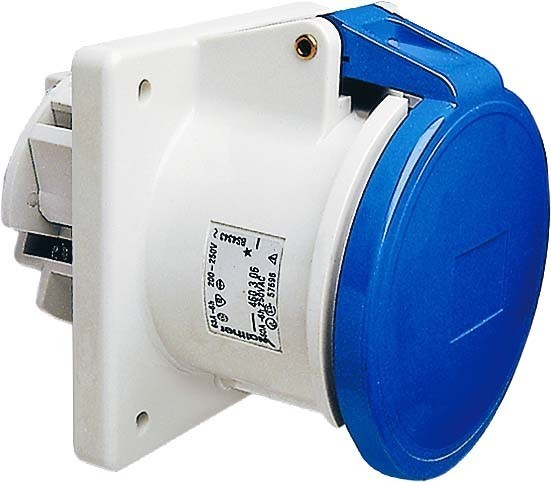 Panel-mounted CEE socket outlet 63 A 3 460306