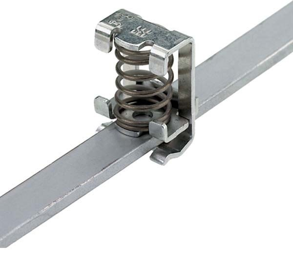 Shield connection clamp 3 mm Busbar Spring connection 1600480000